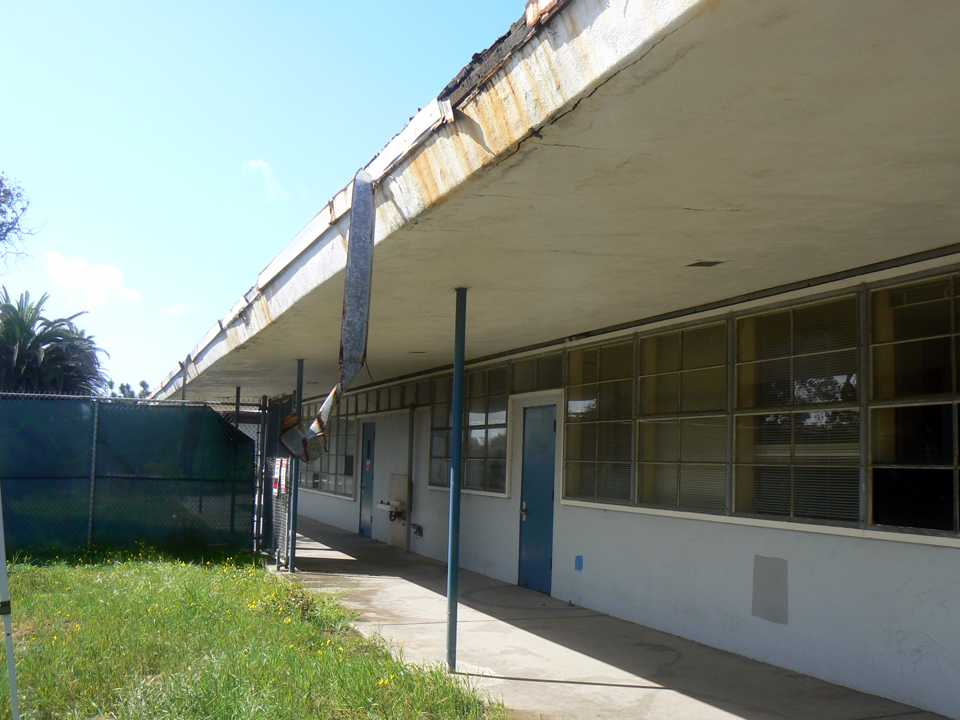 With the sale now final, the city of Encinitas is set to look for ways to rehabilitate the Pacific View School property, shown March 27. (North Coast Current file photo)