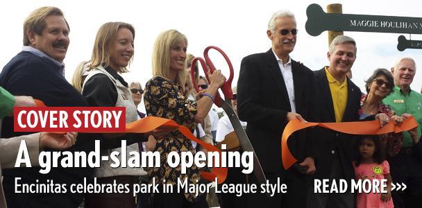 A grand-slam opening: Encinitas celebrates park in Major League style