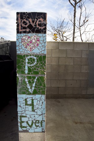 Student-made mosaics can be found at the old Pacific View School site in Encinitas, now owned by the city. (File photo by Scott Allison)