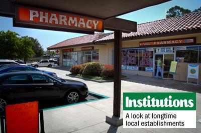The doors of Rancho Park Pharmacy in Encinitas will soon close, leaving longtime customers to find a new pharmacy and gift shop. CVS has purchased the pharmacy and will transfer prescriptions to the CVS located at 129 El Camino Real. (Photo by Scott Allison)