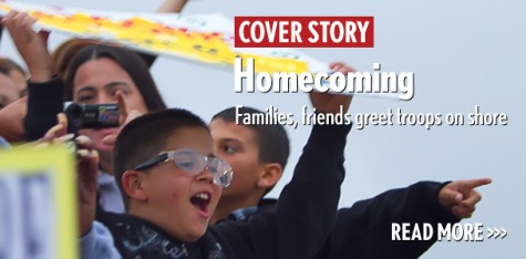 Homecoming: Families, friends greet troops on shore