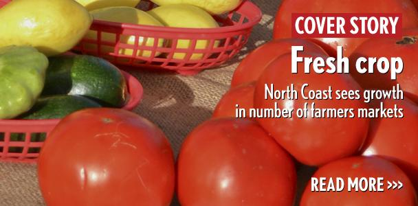 Fresh+vegetables+from+Kawano+Farms+of+Oceanside+are+displayed+at+the+Encinitas+Station+Farmers+Market+in+August.+%28Photo+by+Ben+Carlson%29