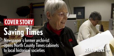 Saving Times: Newspaper's former archivist opens North County Times cabinets to local historical societies