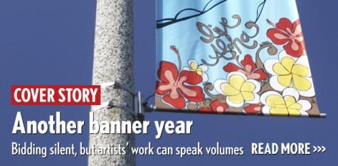 Bidding silent, but banner artists' work can speak volumes