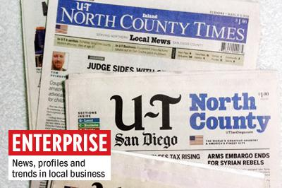 U-T San Diego recently phased out its North County edition, formerly the North County Times. (North Coast Current photo)