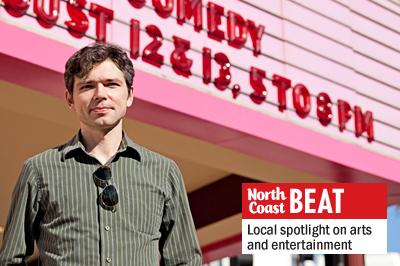 Oceanside International Film Festival Chairman Dmitriy Demidov stands Aug. 4 outside the Star Theatre in downtown Oceanside, the venue for much of the festival's events. (Photo by Paige Nelson)