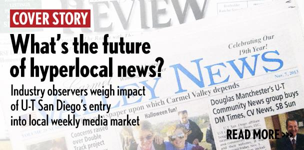 U-T Community News, part of the daily U-T San Diego, announced its purchase of eight community newspapers on Nov. 1. (North Coast Current photo)