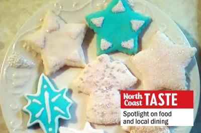 Out of all the cookies you could possibly make, sugar cookies say Christmas best of all. Cut in shapes such as reindeer, sleighs, and angels, painted with colorful frosting and embellished with sprinkles of all sorts, sugar cookies are the jolliest cookie jar offering. (Photo by Laura Woolfrey-Macklem)