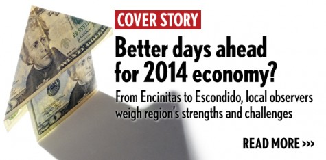 Better days ahead for 2014 economy? From Encinitas to Escondido, observers weigh strengths and challenges