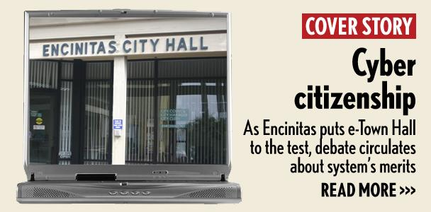 In community blogs, comments and group conversations, residents have been talking about the positives and the negatives of e-Town Hall. Some are expressing concerns over the actual impact on promoting public engagement, the relevance of topics and the ease of which a non-resident can sign up for an account. (North Coast Current photo illustration)