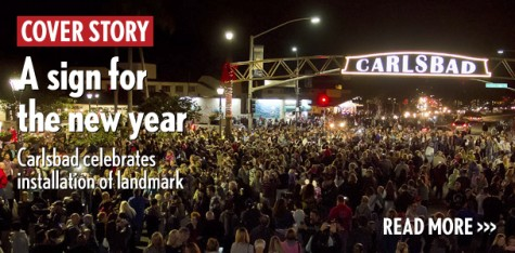 A sign for the new year: Carlsbad celebrates installation of landmark