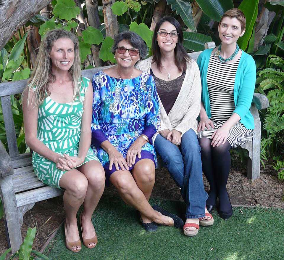 Encinitas residents Liz Taylor (far left), Teresa Barth, Mim Michelove and Tiffany Fox (far right) have joined forces to create the community nonprofit Encinitas Engage. (Courtesy photo)