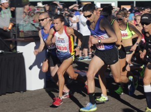 World class runner Luis Orta (bib No. 6030) takes off at the start of the fourth annual Cardiff Kook Run in Feb. 1 in Encinitas. (Photo by Helen Hawes)