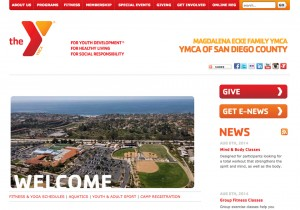 The website of the Magdalena Ecke YMCA carries a boilerplate design consistent with all YMCAs in San Diego County. (North Coast Current)