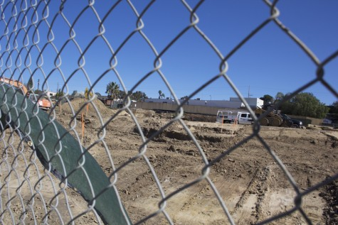 Groundwork is underway on San Dieguito High School Academy's future math and science complex, pictured Feb. 11. The complex replaces the old theater and arts buildings. (North Coast Current photo)
