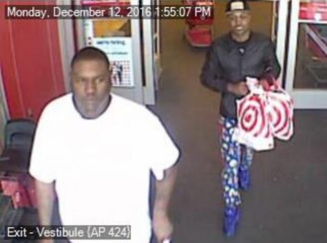 The San Diego County Sheriff's Department seeks the public's help in identifying two men, captured on Encinitas Target store surveillance suspected of identity and credit card theft. (Sheriff