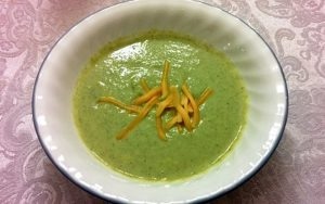 Pureed, kissed with milk and spiked with cheese, homemade broccoli cheese soup can be a family favorite. (Photo by Laura Woolfrey Macklem)