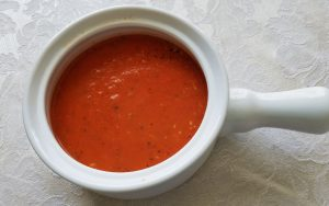 This tomato soup is appealing to even picky eaters because it's reminiscent of a marinara sauce. (Photo by Laura Woolfrey Macklem)