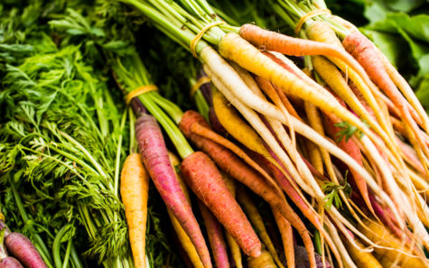 Fresh local carrots can be found at the Oceanside Farmers Market. (Photo by Kristina Chartier, courtesy of Oceanside Farmers Market)