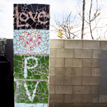 A mosaic at the Pacific View School site in Encinitas. (NCC file photo by Scott Allison)