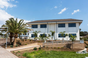 The student services building of the recently completed Earl Warren Middle School in Solana Beach is part of a completely rebuilt campus. (San Dieguito Union High School District photo)