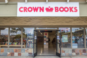 Even though Crown Books' Encinitas location, pictured Sept. 21, has only been open for a few months, it is doing more buy-sell-trade than its other two locations in San Diego County, store manager Kelvin Thurston says. (Photo by Cam Buker)