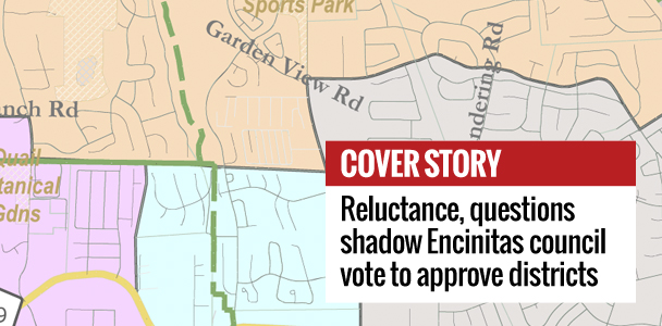 The Encinitas City Council voted 3-2 on Nov. 15 to approve a four-district map and elections for districts in the city. (North Coast Current)