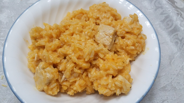"Buffalo chicken ""risotto"" is a tasty one-pot meal that's easy to make. (Photo by Laura Woolfrey Macklem)"