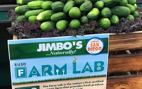 Jimbo's grocery chain is among the sponsors of Encinitas Union School Distirct's Farm Lab. (EUSD Farm Lab photo)