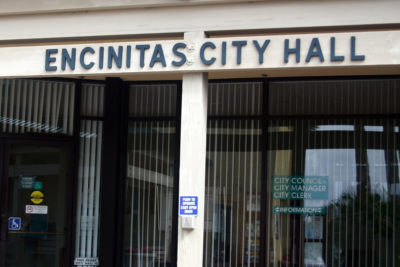 Encinitas City Hall. (North Coast Current file photo)