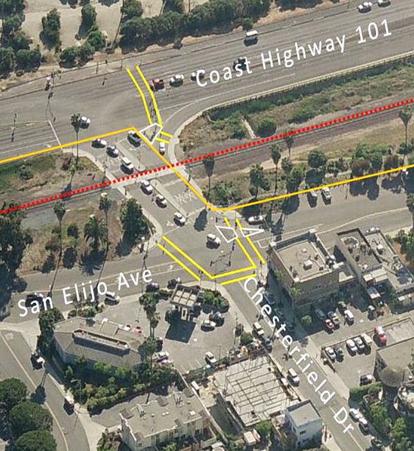 This+image+shows+the+rail+crossing+and+roadway+at+Chesterfield+Drive+in+Cardiff+scheduled+for+full+closure+during+most+of+January.+%28SANDAG+photo%29