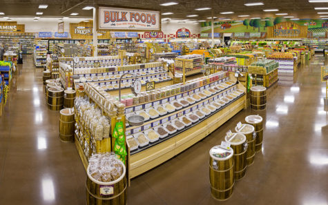 This Sprouts store interior represents the decor found across its locations. (Photo by Rick Gale for Sprouts Farmers Market)