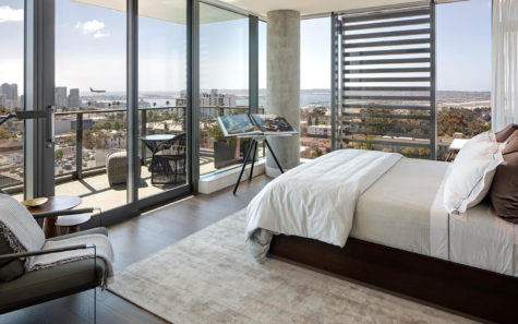 The Park, a 14-story project by Encinitas builder Zephyr in Banker's Hill, includes views to downtown San Diego. (Courtesy photo)