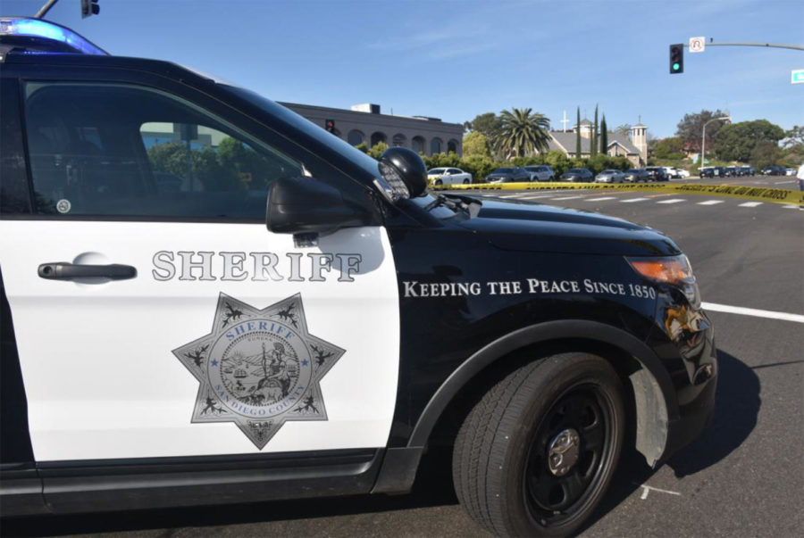 The+San+Diego+County+Sheriff%E2%80%99s+Department+stands+guard+in+front+of+Chabad+of+Poway+on+April+27+after+a+shooting+at+the+house+of+worship.+%28Sheriff%E2%80%99s+Department+photo%29
