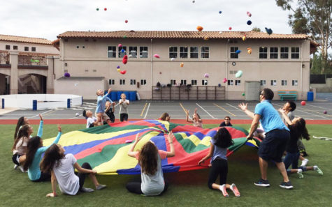 Students play a game during physical education at The Rhoades School's main campus in Encinitas. (Rhoades School photo)