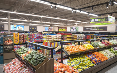 The produce section of a standard ALDI store. (ALDI corporate photo)