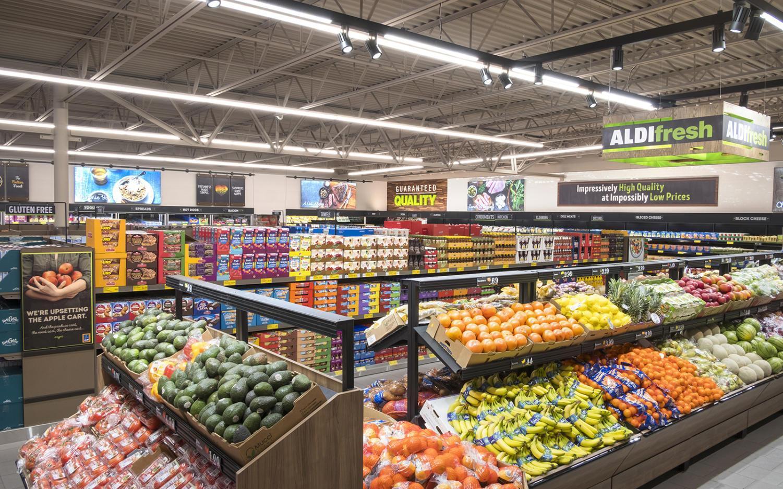 The produce section of a standard ALDI store. (ALDI corporate photo)