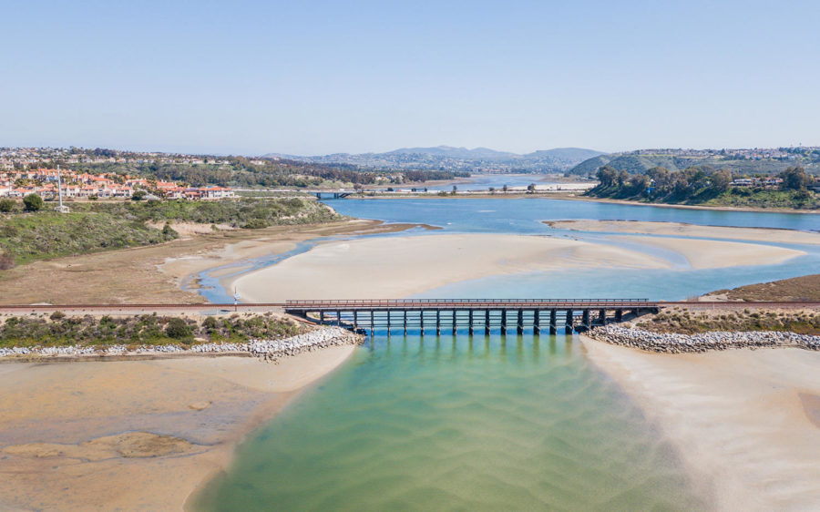 An+aerial+view+shows+an+eastward+view+of+Batiquitos+Lagoon.+Carlsbad+is+to+the+north.+Encinitas+is+to+the+south.+%28Photo+by+Diane+Bentley+Raymond%2C+iStock+Getty+Images%29