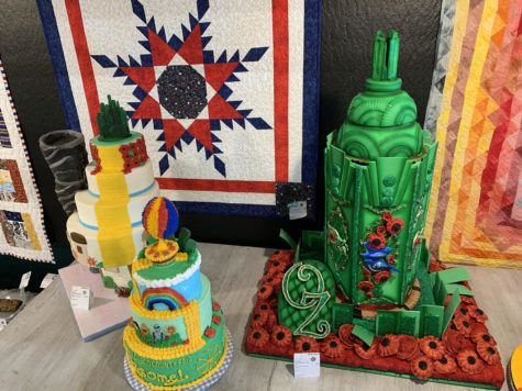 """This year's theme at the San Diego County Fair was Ozsome, an homage to the """"Wizard of Oz"""" series by L. Frank Baum. Some of this year's cake decorating entries were based on the world Baum created and depicted the Emerald City, the Yellow Brick Road and the wizard's hot air balloon. (Photo by Lauren J. Mapp)"""