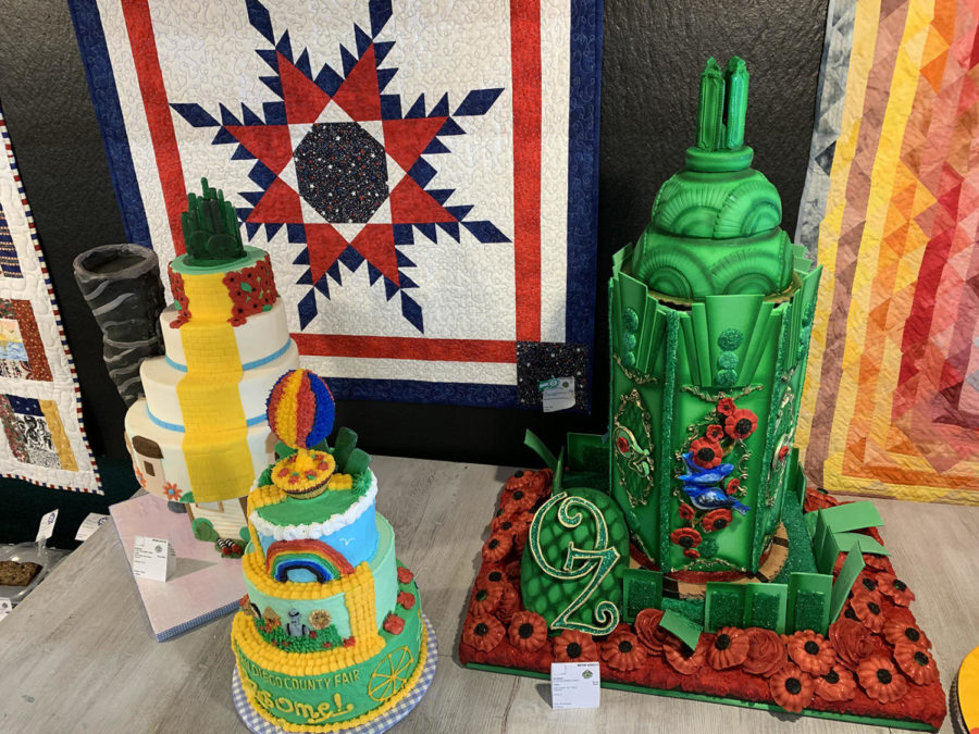 "This year's theme at the San Diego County Fair was Ozsome, an homage to the ""Wizard of Oz"" series by L. Frank Baum. Some of this year's cake decorating entries were based on the world Baum created and depicted the Emerald City, the Yellow Brick Road and the wizard's hot air balloon. (Photo by Lauren J. Mapp)"