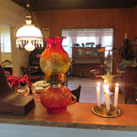 Teten House holiday display. (San Dieguito Heritage Museum)