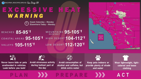 Map of Excessive Heat Warning