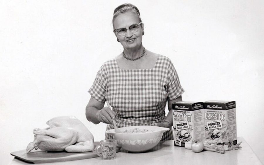 Sophie Cubbison in a publicity photo advertising her products. (Photo courtesy of Mrs. Cubbison's Foods)