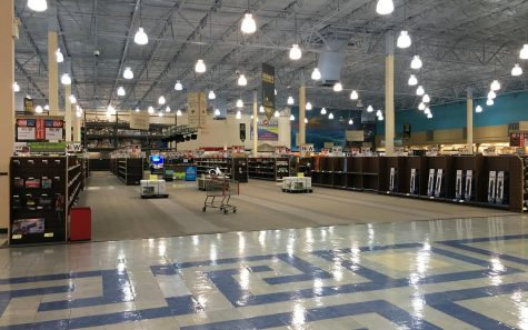 By October 2019, the San Marcos Fry's store was already being emptied of inventory. (North Coast Current file photo)