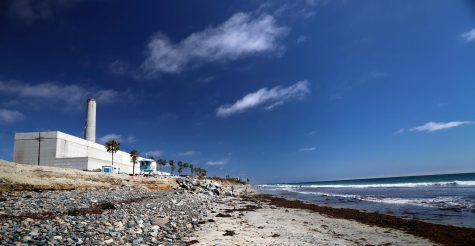 The Encina Power Station in Carlsbad, pictured July 18, 2019, has been considered a community landmark at the beach and at a distance. (Photo by Heather Broccard-Bell, iStock Getty Images)