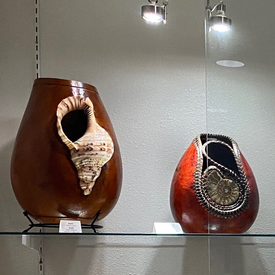 The work of San Diego County Gourd Artists members. (Courtesy photo)