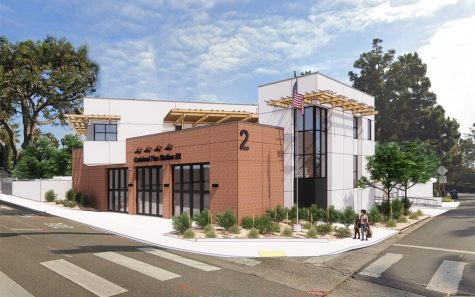 An architectural rendering shows what the new Carlsbad Fire Station 2 is expected to look like. (Courtesy photo)