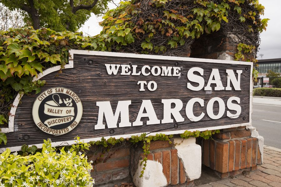The San Marcos city sign. (Photo by albertc111, iStock Getty Images)