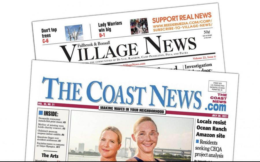 North San Diego County newspapers The Coast News and Fallbrook & Bonsall Village News have lost revenue during the COVID-19 pandemic. (North Coast Current graphic)