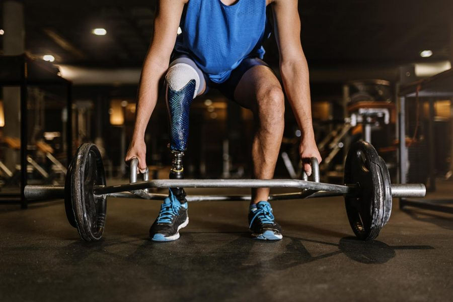 A challenged athlete trains in a gym. (Photo by Santiago Nunez, iStock Getty Images)
